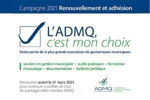 L'ADMQ, c'est mon choix : Faites partie de la plus grande association de gestionnaires municipaux au Québec